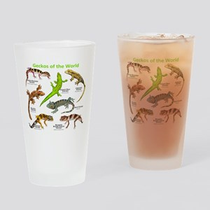 Geckos of the World Drinking Glass