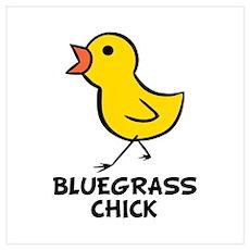 Bluegrass Chick Wall Art Poster
