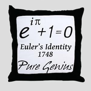 Euler - Pure Genius Throw Pillow