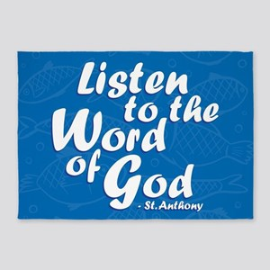 Word of God 5'x7'Area Rug