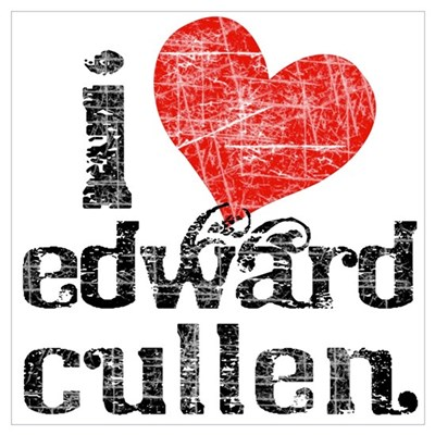 I Heart Edward Cullen Wall Art Poster