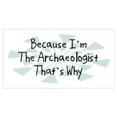 Because Archaeologist Wall Art Poster