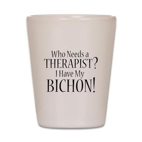 THERAPIST Bichon Shot Glass