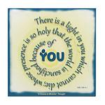 ACIM Keepsake Tile Coaster- a light in you