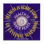 ACIM Keepsake Tile Coaster-Health is inner peace