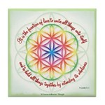 ACIM Keepsake Tile Coaster-The function of love