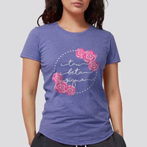 Tau Beta Sigma Sorority Pink Rose Womens Tri-blend