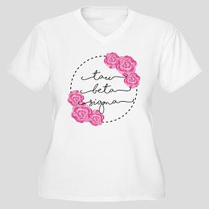 Tau Beta Sigma Sorority Pink Rose Plus Size T-Shir