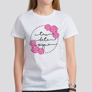 Tau Beta Sigma Sorority Pink Rose T-Shirt