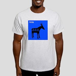iVote (Democrat) Ash Grey T-Shirt