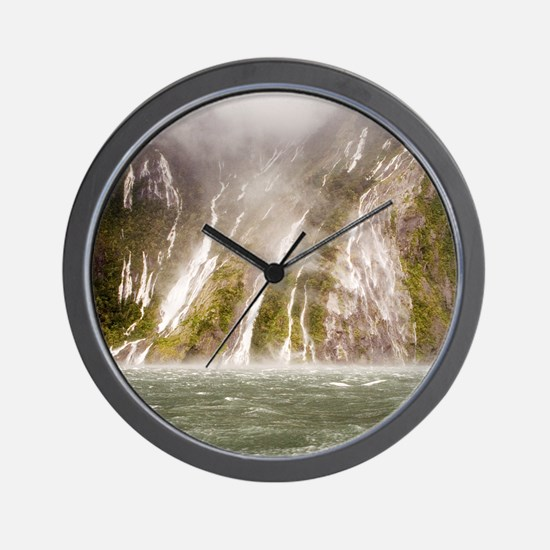 Milford Sound Wall Clock
