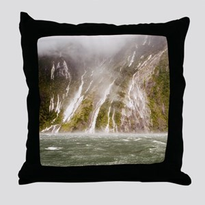 Milford Sound Throw Pillow