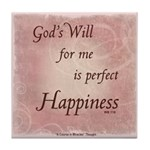 ACIM Keepsake Tile Coaster- God's Will for me