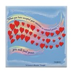 ACIM Keepsake Tile Coaster-Extend peace
