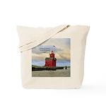 Holland Harbor South Pierhead Light Tote Bag