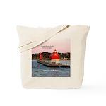 Grand Haven Pierhead Lights Tote Bag
