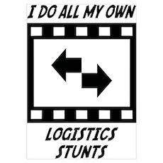 Logistics Stunts Wall Art Poster