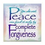 ACIM Keepsake Tile Coaster- You who want peace