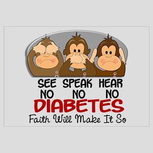 See Speak Hear No Diabetes 1 Wall Art