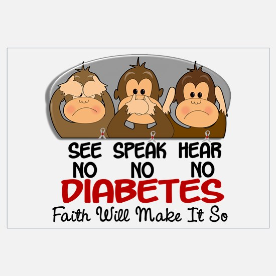 See Speak Hear No Diabetes 1 Wall Art