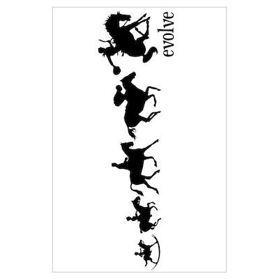 Equestrian Evolution Wall Art Poster