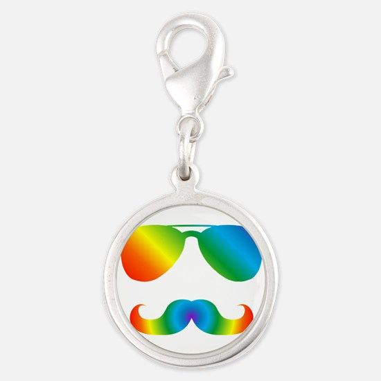 Pride sunglasses Rainbow mustache Charms