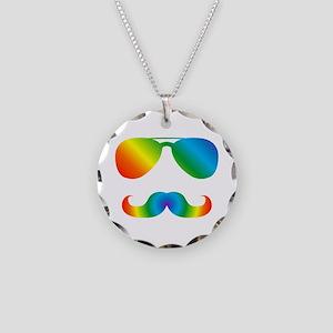 Pride sunglasses Rainbow mus Necklace Circle Charm
