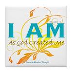 ACIM Keepsake Tile Coaster- I am as God created me