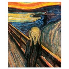 The Scream Wall Art Framed Print