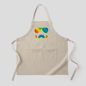 Pride sunglasses Rainbow mustache Light Apron