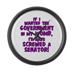 Government In My Womb Large Wall Clock