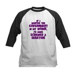 Government In My Womb Kids Baseball Jersey