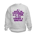Government In My Womb Kids Sweatshirt