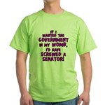 Government In My Womb Green T-Shirt