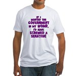 Government In My Womb Fitted T-Shirt