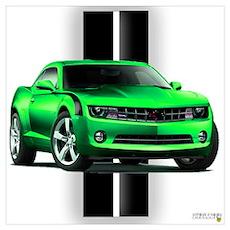 New Camaro Green Wall Art Poster