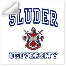 SLUDER University Wall Art Wall Decal