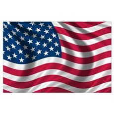 American Flag Wall Art Poster