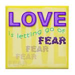 ACIM Keepsake Tile Coaster - Love is letting go