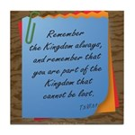 ACIM Keepsake Tile Coaster - Remember the Kingdom