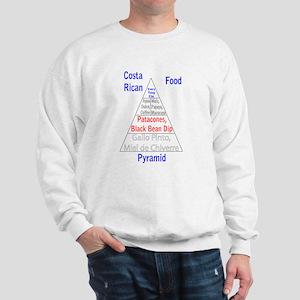 Costa Rican Food Pyramid Sweatshirt