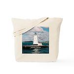 Ludington North Breakwater Light Tote Bag