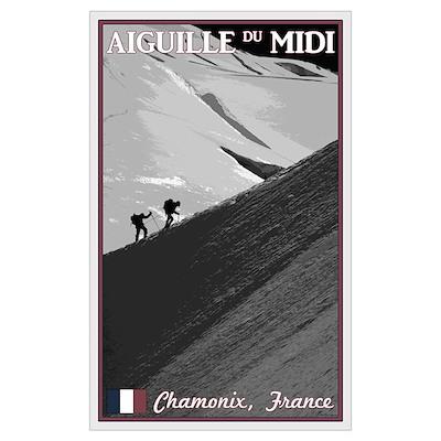 Aiguille du Midi Arete Wall Art Poster
