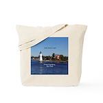 Rock Island Lighthouse Tote Bag
