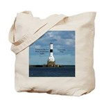 Conneaut Harbor West Breakwater Light Tote Bag