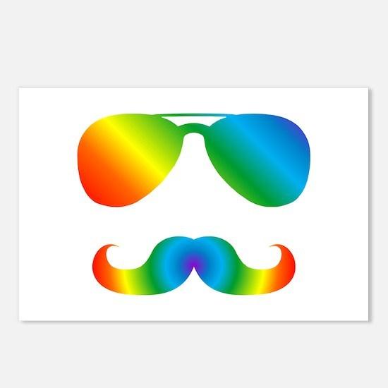 Pride sunglasses Rainbow Postcards (Package of 8)