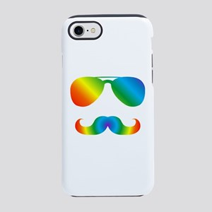 Pride sunglasses Rainbow musta iPhone 7 Tough Case
