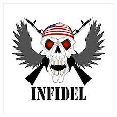 Infidel Skull Wall Art Poster