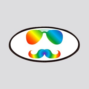 Pride sunglasses Rainbow mustache Patch