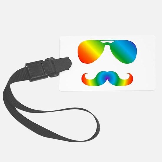 Pride sunglasses Rainbow mustach Luggage Tag